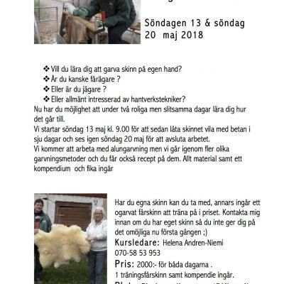 (Svenska) Kurs i Skinnberedning